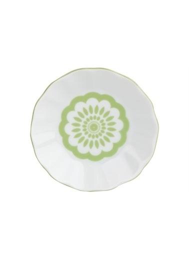 Porland Porland Penç Yeşil Çay Tabağı 11cm Renkli